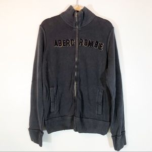 Abercrombie & Fitch zip up blue sweatshirt